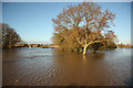 SK7953 : Trent floods by Richard Croft