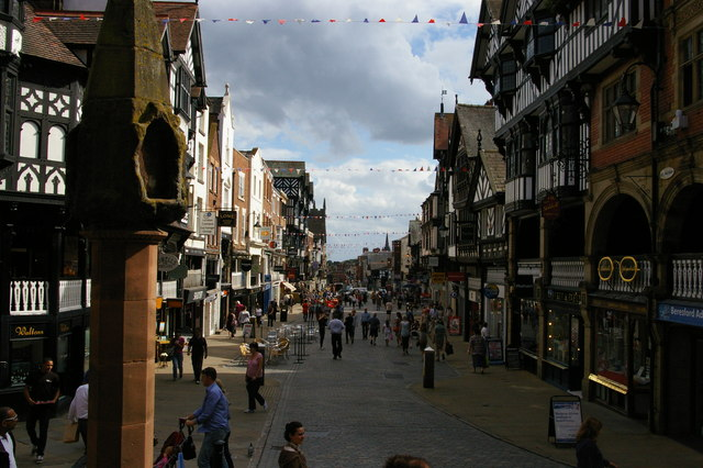 Chester: looking down Bridge Street from The Cross