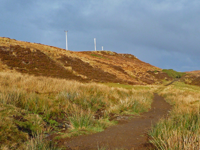 The hill path to Fiskavaig