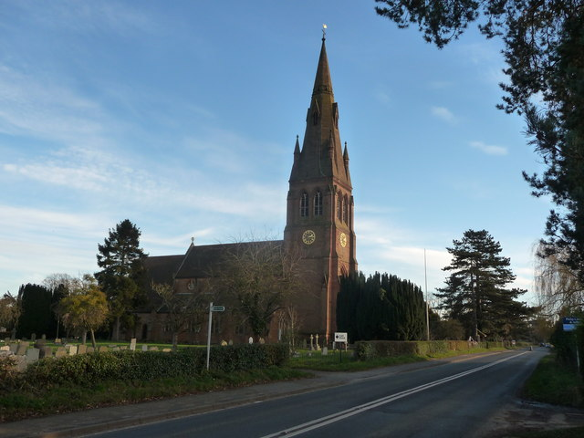 The church of St. Philip & St. James in Hallow, Worcs