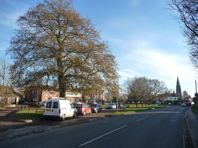 Village green in Hallow, Worcs