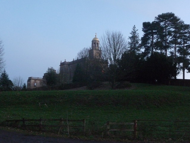 Witley church near dusk in November