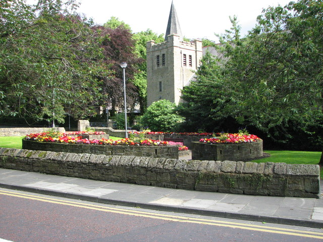 Methodist Church gardens Morpeth