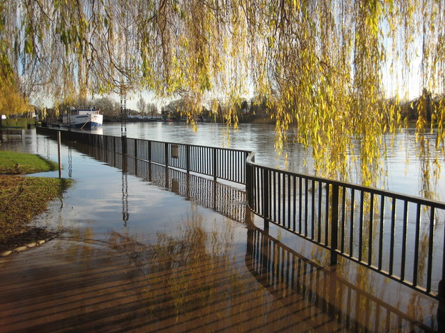 Flooded River Severn