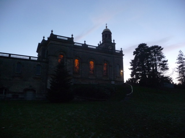 St. Michael & All Angels, Witley Court on a November evening