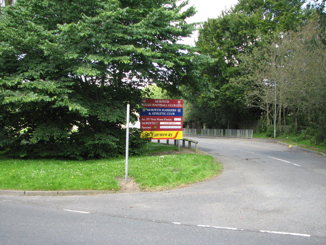 Entrance to Morpeth Rugby Club