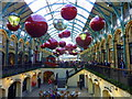 TQ3080 : Christmas decorations at Covent Garden by pam fray