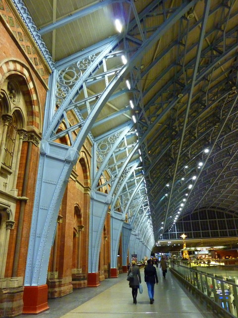 Part of the upper walkway at St. Pancras International Station