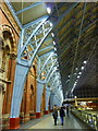TQ3082 : Part of the upper walkway at St. Pancras International Station by pam fray