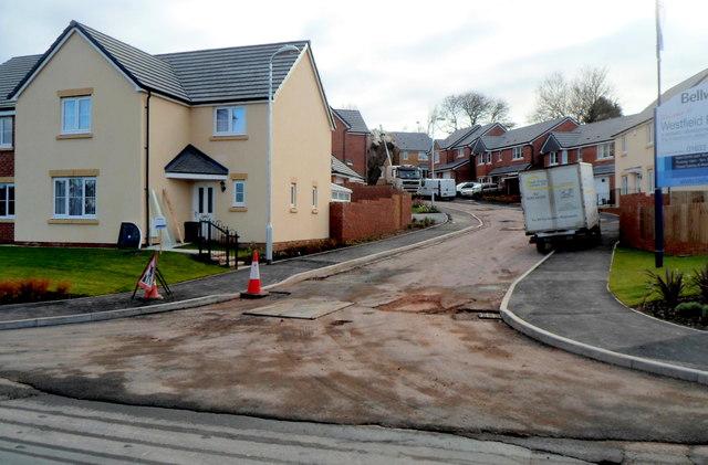 New houses, Westfield Rise, Malpas, Newport