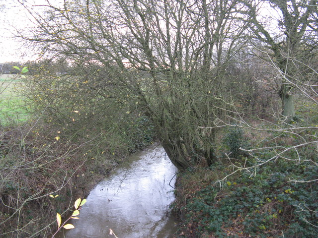 Burstow stream having passed under Smallfield Road
