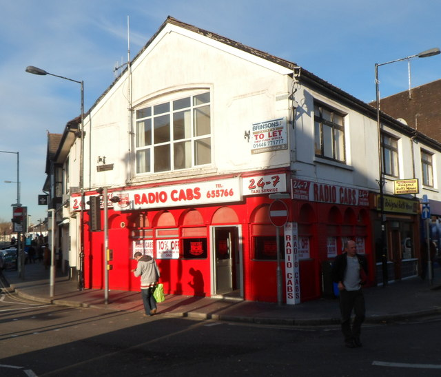 Radio Cabs taxi office, Bridgend