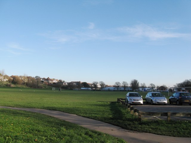 View east across the Victoria Recreation Ground