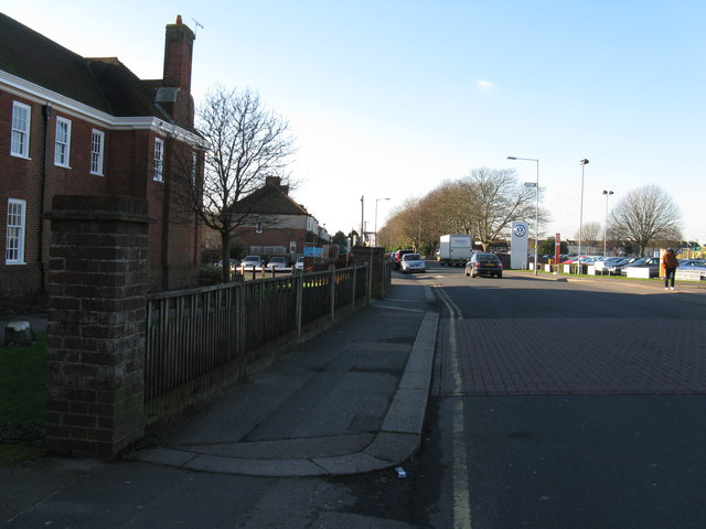 West along Victoria Road Portslade