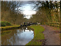 SJ9689 : Peak Forest Canal, Lock#3 by David Dixon