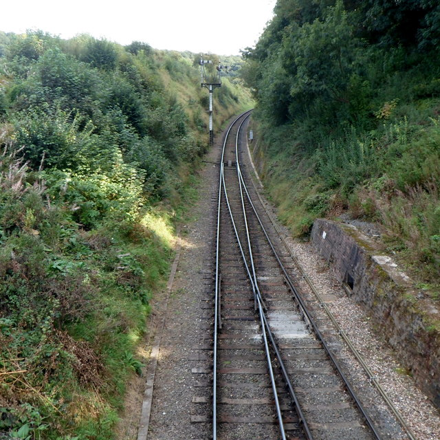 Two tracks into one in a cutting SE of Arley railway station