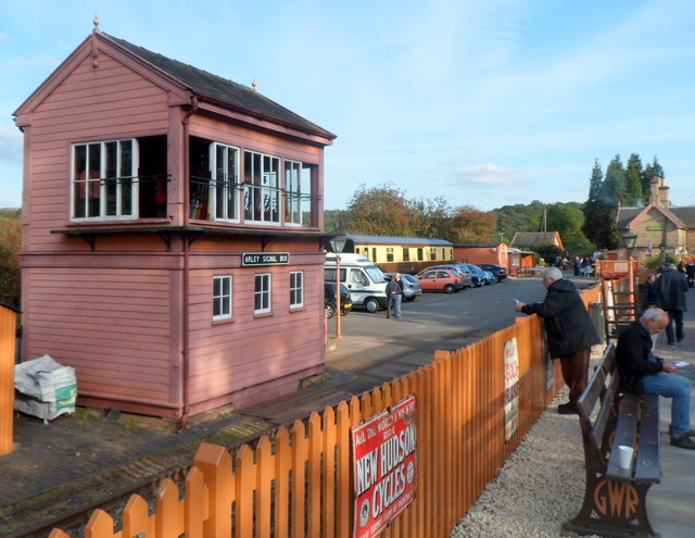 Arley railway station signalbox