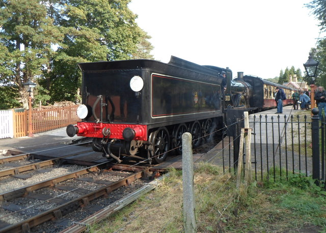 Rear view of locomotive 30120 at Arley station
