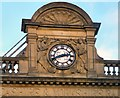 SJ8398 : Victoria Station Clock by Gerald England