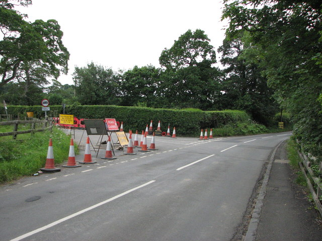 Road works on B6343
