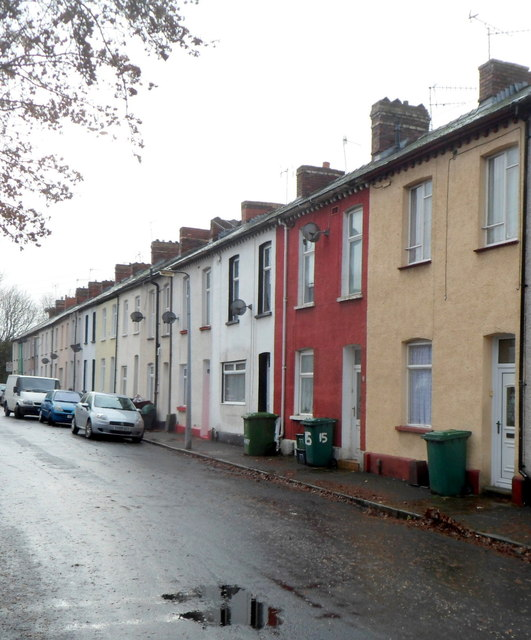 West side of Rudry Street, Newport