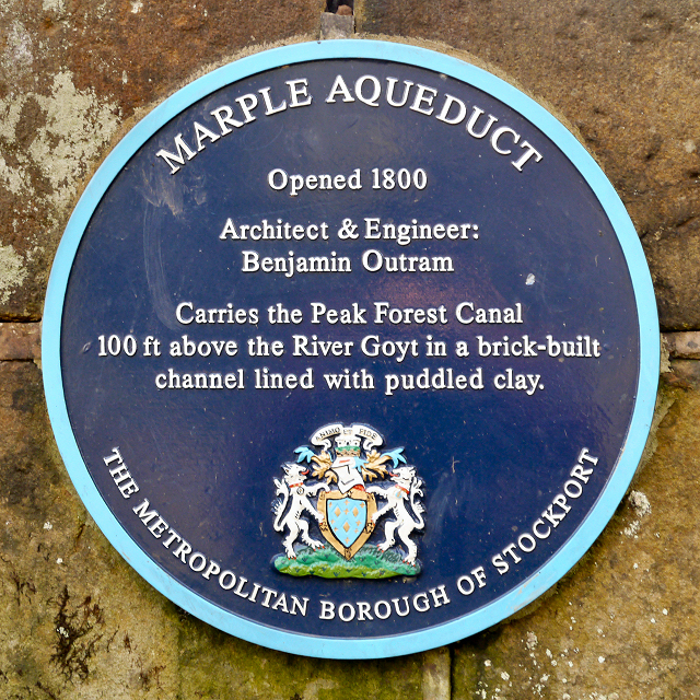 Marple Aqueduct (blue plaque)