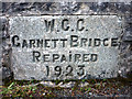 SD5299 : Commemorative stone, Garnett Bridge by Karl and Ali