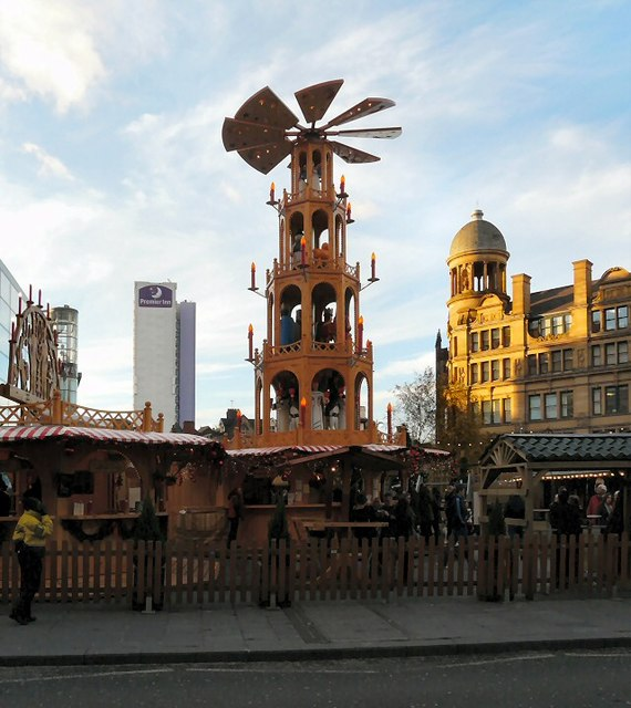 Manchester Exchange Square Christmas Market 2012