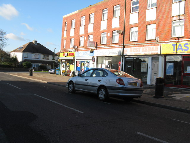 Shopping parade on Middle Road Shoreham