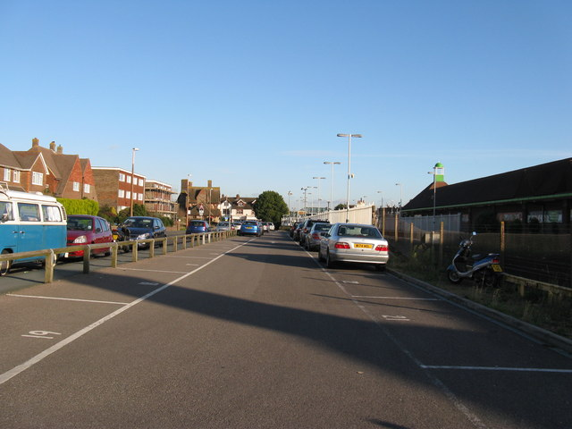 Lineside car park by Lancing Station