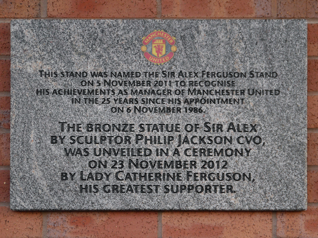 Dedication, Sir Alex Ferguson Stand