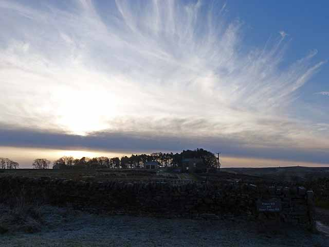 Winter sky over Finney Hill