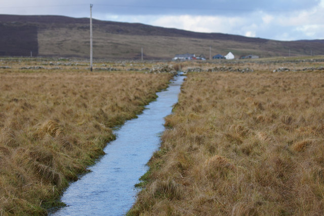 Drainage ditch near Hillsgarth, Baltasound