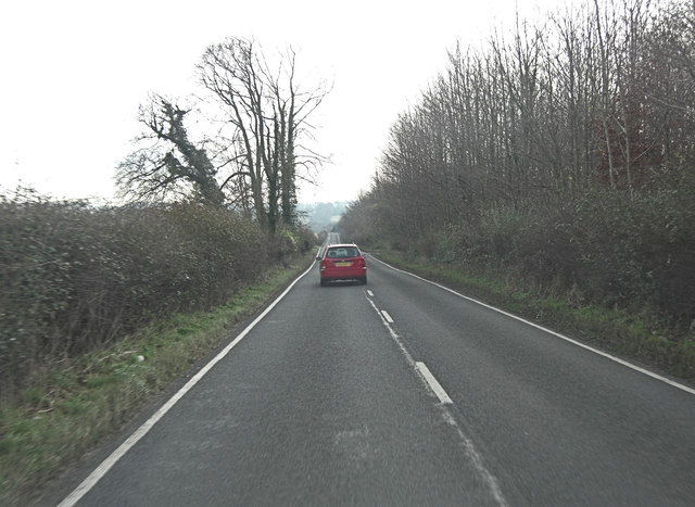 Morestead Road north of Morestead Farm