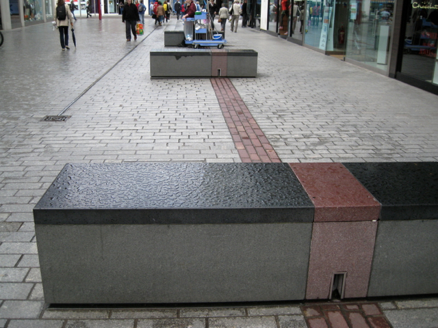 Eastgate street furniture and paving