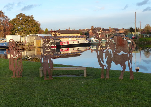 Sculptures along the Grand Union Canal