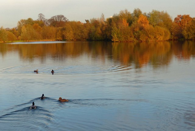 Small lake at the Watermead Country Park