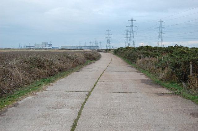Track along Denge Marsh