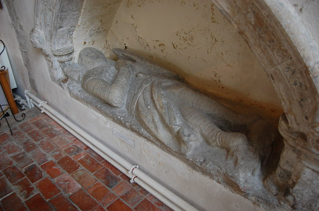 Effigy of Sir Walter de Menyl?,  Lydd Church