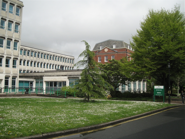 Civic Centre entrance, Dix's Field
