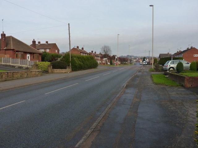 Stallings Lane turns into Cinder Road