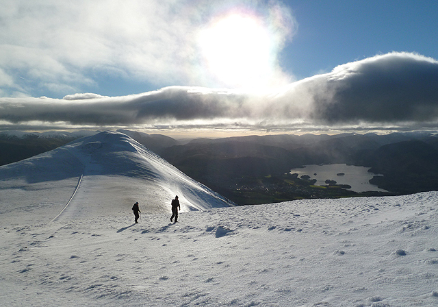 Walking up to Skiddaw South Top