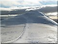NY2628 : The col between Skiddaw South Top and Little Man by Walter Baxter