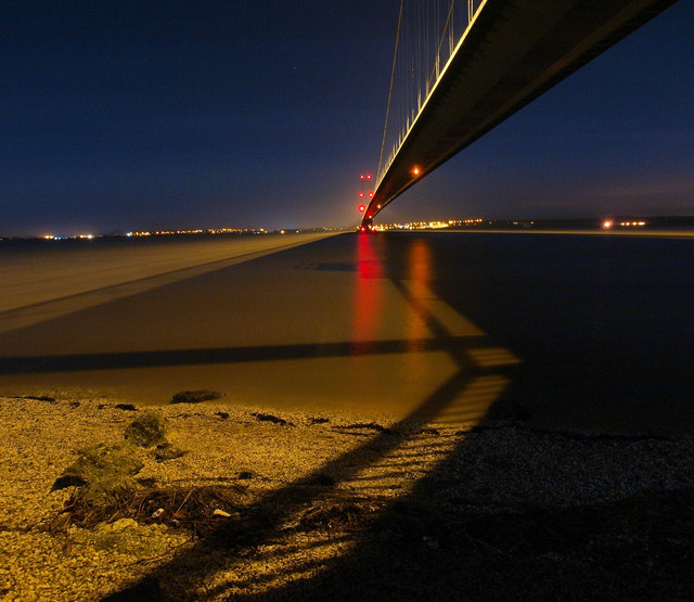 The Humber Bridge at Night