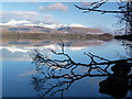 NN0118 : Winter morning, Loch Awe by sylvia duckworth