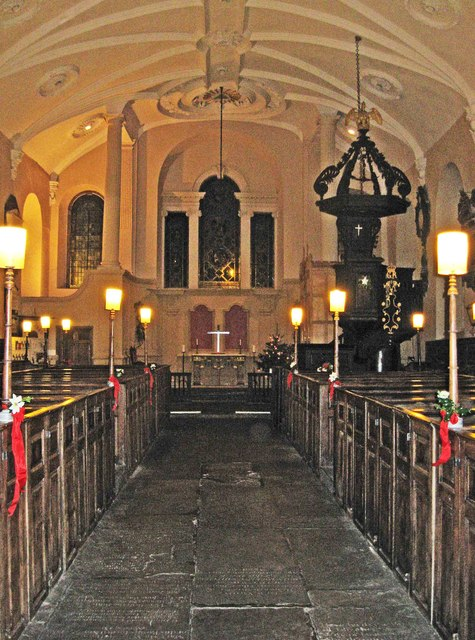 Interior of St. Swithun's Church (1) - looking towards the altar, Church Street, Worcester