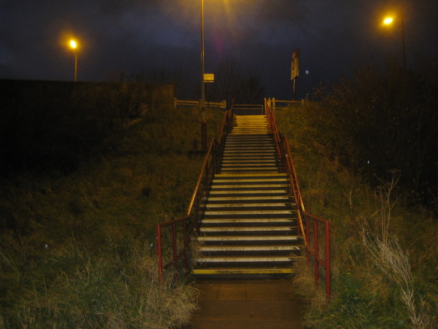 Steps up to Station Road