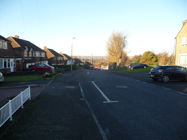 Part of Thornhill Road, Hasbury, Halesowen