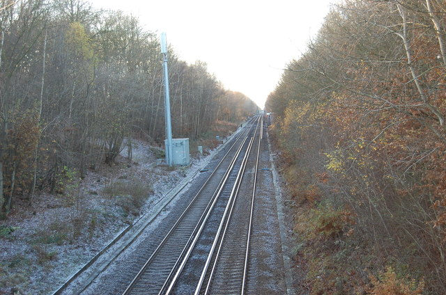 Railway lines towards Headcorn