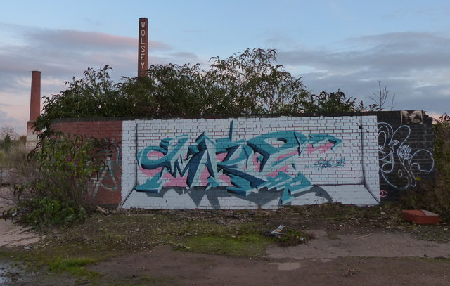 Graffiti at the derelict Wolsey factory site